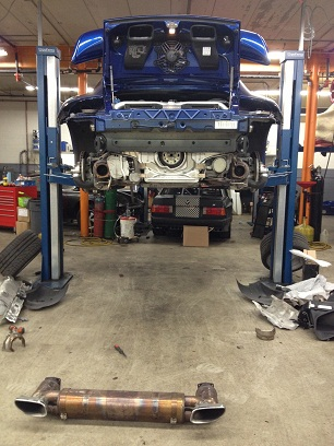 Removing the stock exhaust