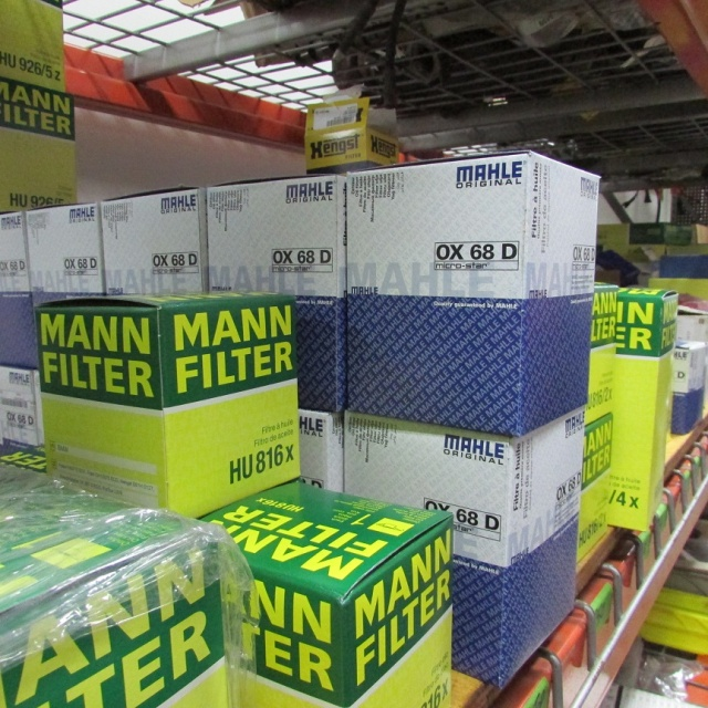 Mann and Mahle Filters in stock