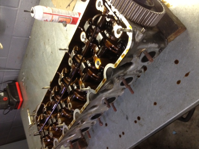 BMW M20 cylinder head. We rebuilt it here, in house. This photo is pre-rebuild.