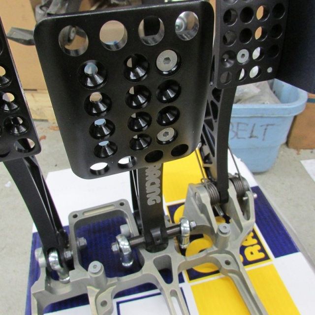 AP Racing floor mounted pedal assembly. Pull type