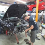 Nick begins disassembly of the supercharged S50