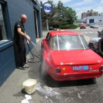 Marc gets his wash on before Watkins Glen SCCA Majors 7/6/13